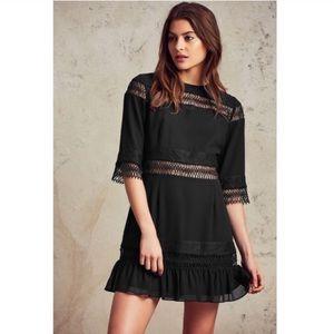Tularosa | Asher Lace Inset Black Mini Dress